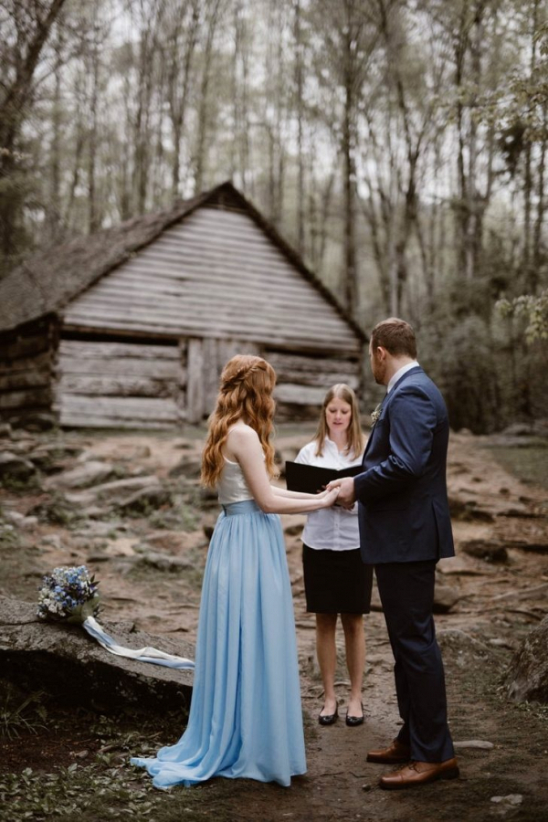 Intimate Smokie Mountain elopement