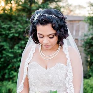 Glamorous bridal look