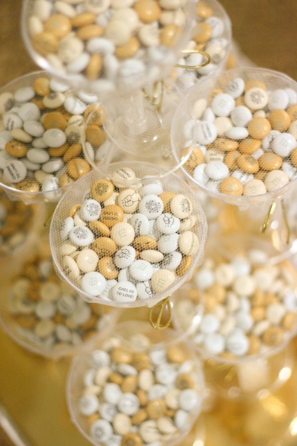 M&M's Champagne Glass Wedding Favors
