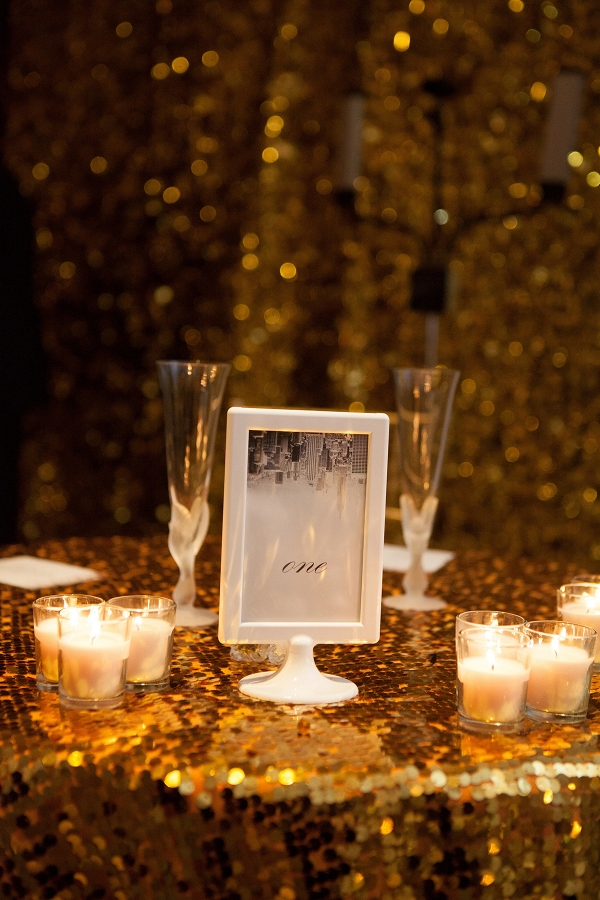 Sequin backdrop and tablecloth