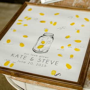 Guest book thumbprint print