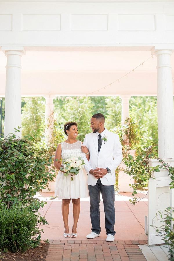 Summery bride and groom