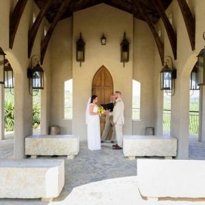 Intimate chapel wedding ceremony