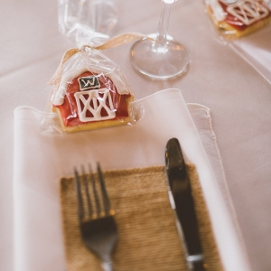 Custom Cookie Wedding Favors | Shot by Darin Crofton Photography