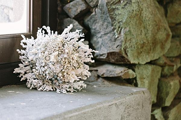 Winter Wonderland Wedding Bouquet   James Stokes Photography