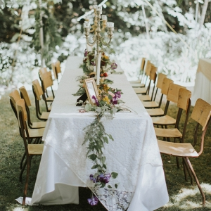 Magical Woodland Wedding Tablescape