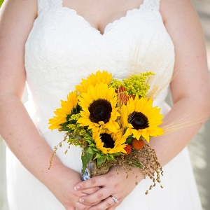 sunflower bouquet on The Budget Savvy Bride