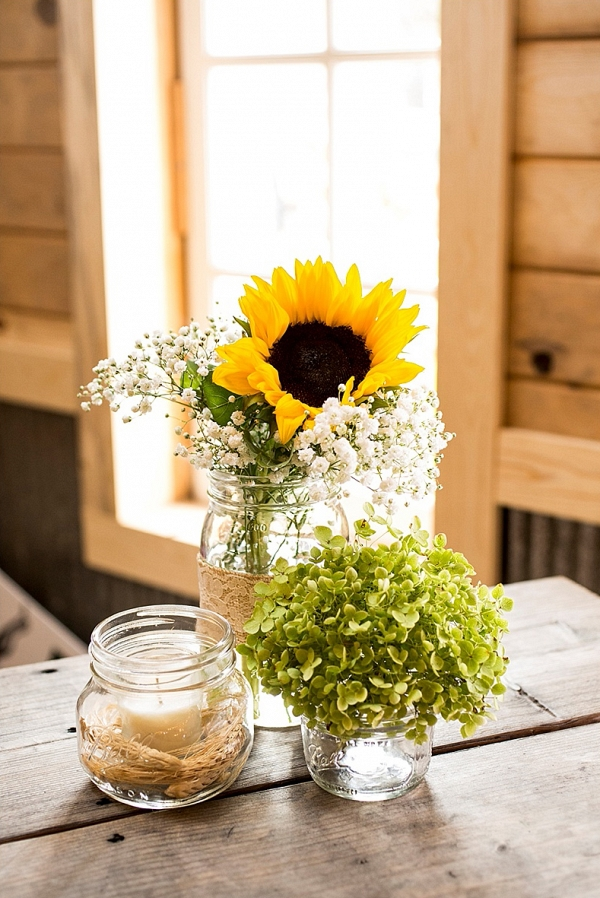 rustic wedding centerpieces on The Budget Savvy Bride