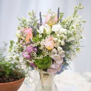 Monet Inspired Wedding Centerpiece