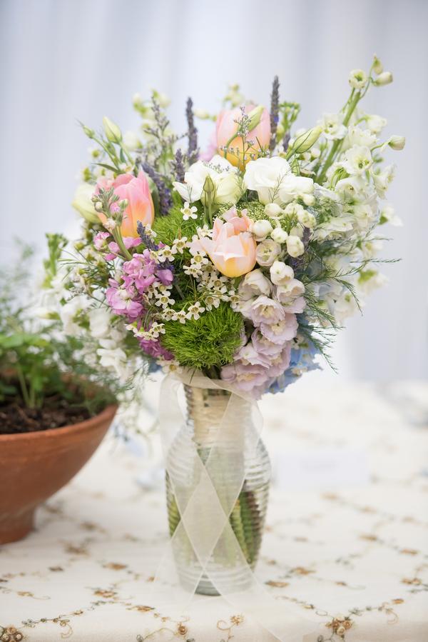 Monet Inspired Wedding Centerpiece