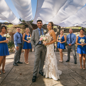 Blue bridal party on The Budget Savvy Bride
