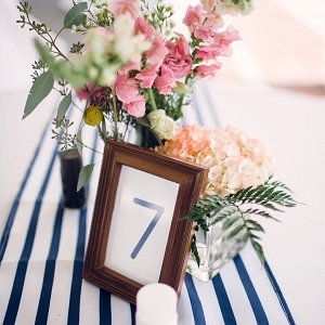 Nautical themed centerpieces on The Budget Savvy Bride