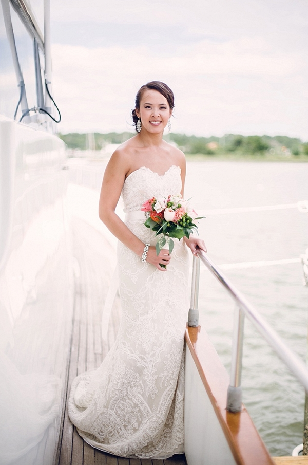 bride on yacht on The Budget Savvy Bride