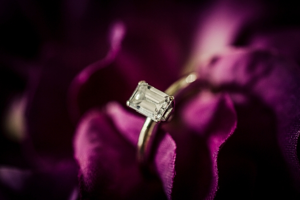 Engagement Ring Shot in Florals