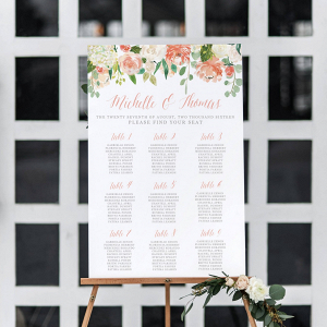 Printable Wedding Seating Chart on The Budget Savvy Bride
