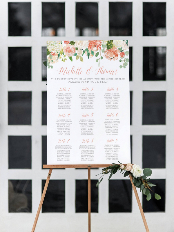 Printable Wedding Seating Chart on The Budget Savvy Bride