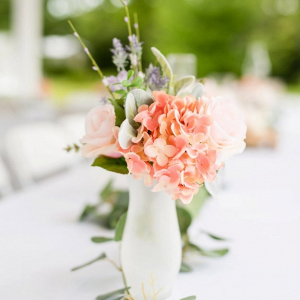 Faux flower wedding centerpieces