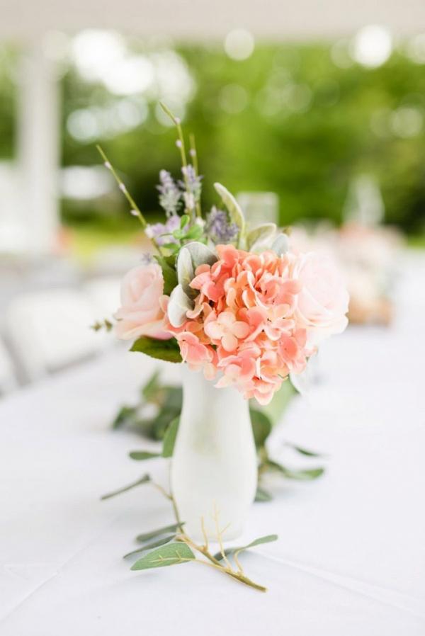 Faux flower wedding centerpieces