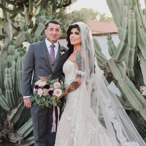 California ranch wedding portrait
