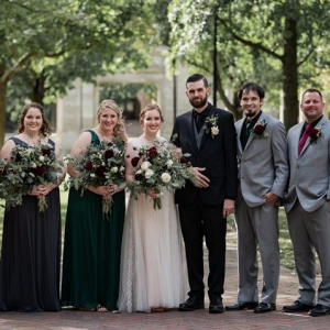Jewel tone wedding party