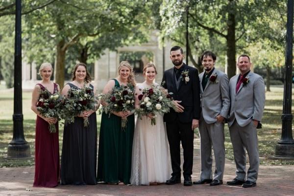 Jewel tone wedding party