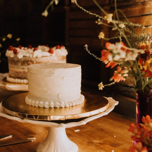 Simple buttercream wedding cakes