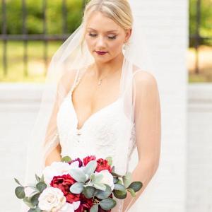 Fake flower bridal bouquet