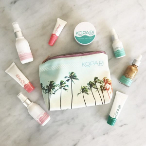 Kopari beauty bag on The Budget Savvy Bride