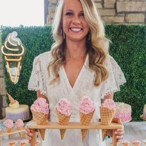 Ice cream themed bridal shower