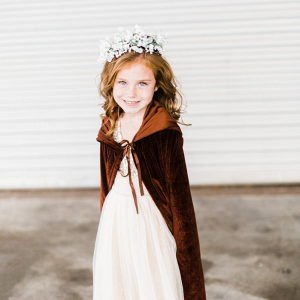 Flower girl with cape