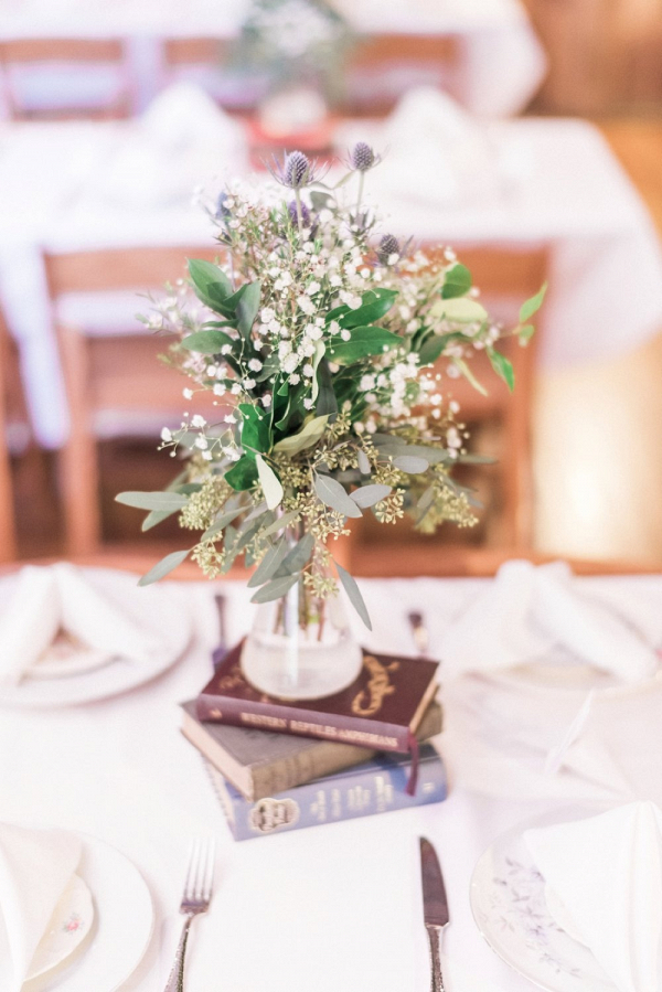 Book wedding centerpiece