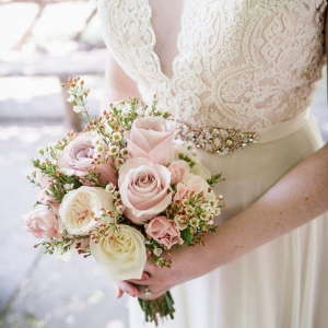 Pink rose bridal bouquet
