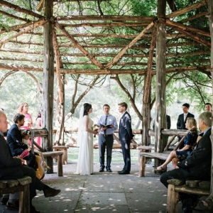 Intimate NYC garden wedding ceremony