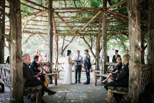 Intimate NYC garden wedding ceremony