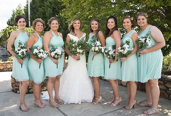 Seafoam bridesmaids