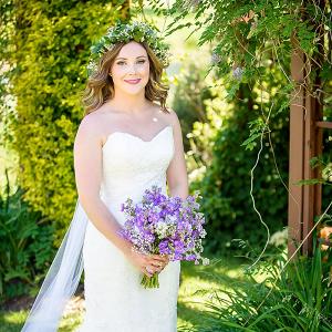 Bride in floral crown