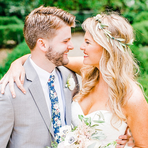 Summer wedding couple