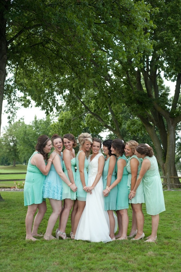 Mint Bridesmaids Dresses | Photo by Karen Feder Photography