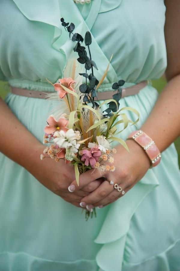 Small silk flower bouquet | Photo by Karen Feder Photography
