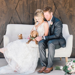 Southern wedding with baby goats