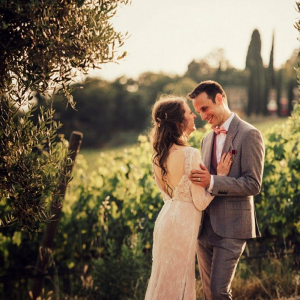 Tuscan vineyard wedding