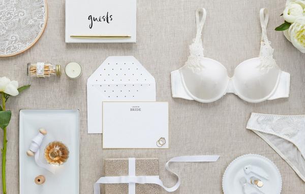 Satin bridal bra
