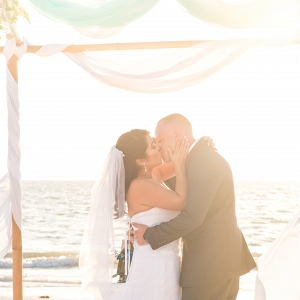 Beach ceremony on The Budget Savvy Bride