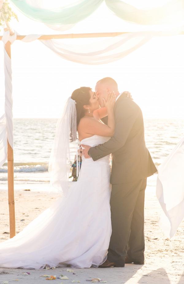 Beach ceremony on The Budget Savvy Bride