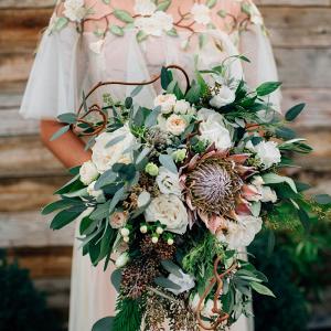 Lush greenery bridal bouquet
