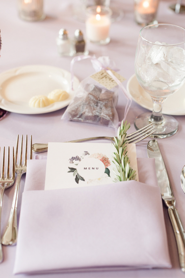 Gorgeous Wedding Menu Cards