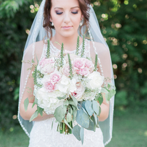 White and Blush Bridal Bouquet