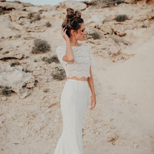 Bohemian Bridal Separates Wedding Dress