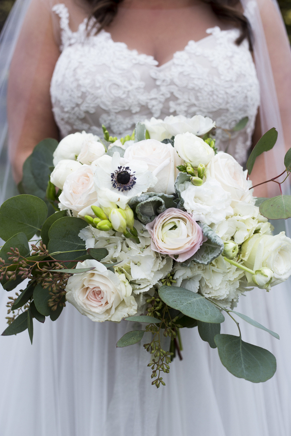 Blush + White Wedding Bouquet
