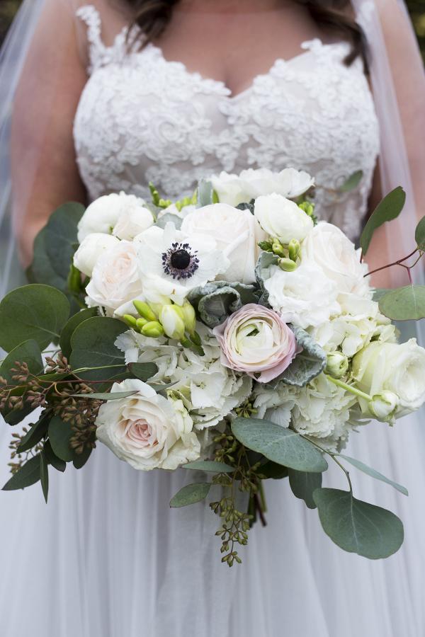 Blush + White Wedding Bouquet